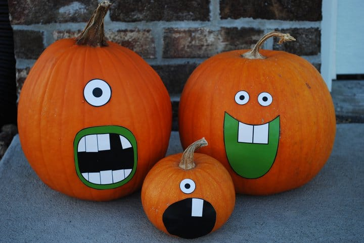 Happy halloween living locurto Funny pumpkin painting ideas