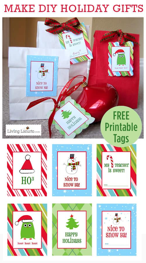 Free Printable Christmas Gift Tags & Labels
