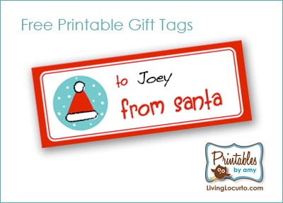 Free printable santa gift tags living locurto negle Images