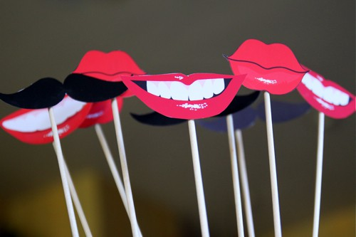 photo about Printable Mustache and Lips titled Totally free Printable Lips and Mustache Image Booth Props