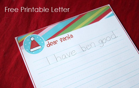 Letter to Santa - Free Printable by Living Locurto