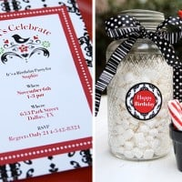 Red & Black Birthday Party Printables