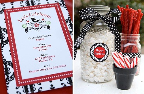 red black birthday party printables living locurto