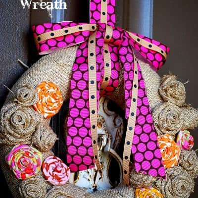 DIY Burlap Scrabble Thanksgiving Wreath