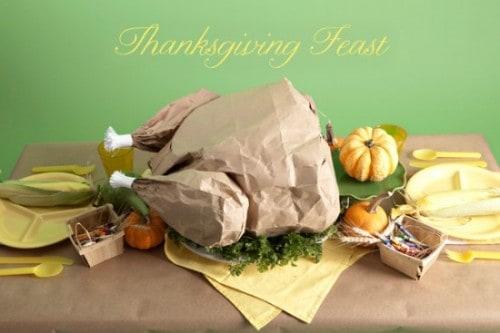 Paper Turkey Popcorn Thanksgiving Feast - Cute DIY Fun Food Idea!