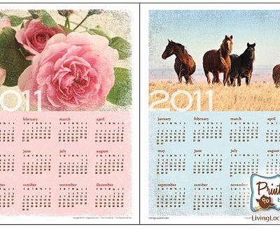 2011 Calendar – Free Printable