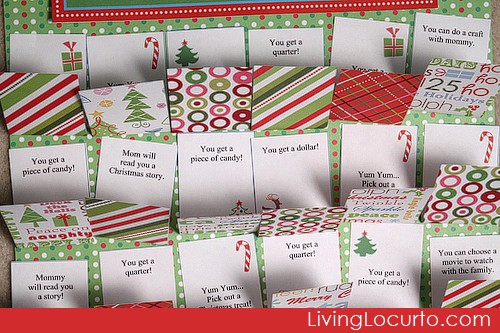 Free Party Printable Christmas Advent Calendars
