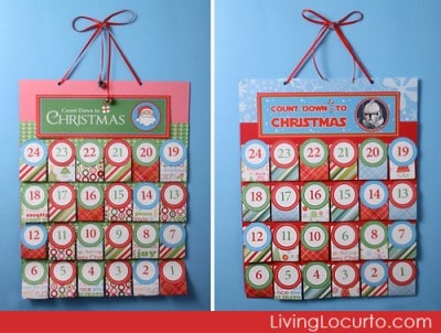 Free Printable Christmas Advent Calendars