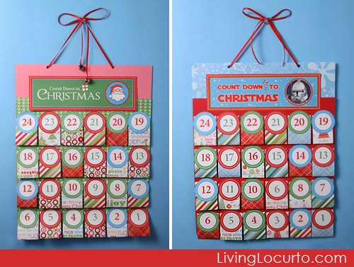 Free Printable #Christmas Advent Calendars by Amy Locurto LivingLocurto.com