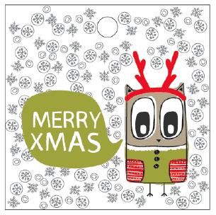 12 free printable christmas gift tags free printable owl christmas tags negle Gallery