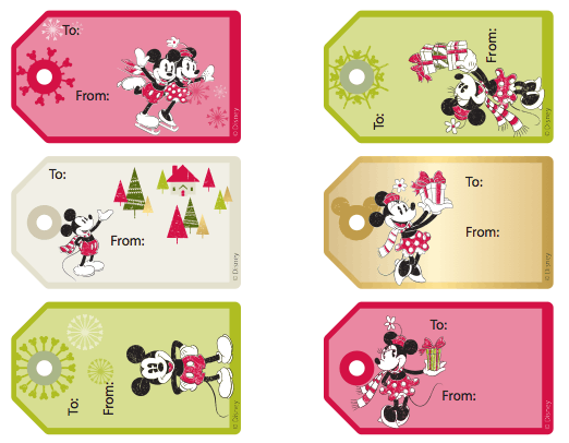 ... mickey mouse tags on family com let the kids color gift tags and