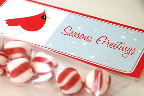 FREE Gift - Cardinal Label Party Printable