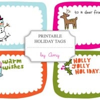 image about Printable Holiday Tags named 12 No cost Printable Xmas Present Tags
