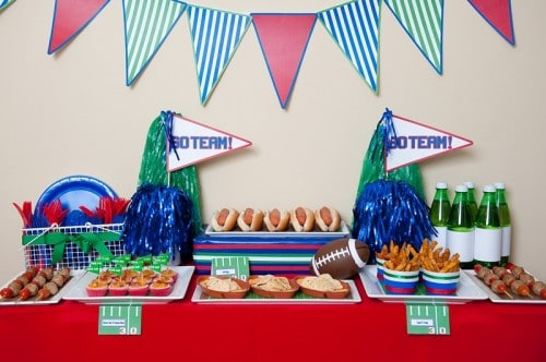 Super Bowl Football Party Ideas with Party Printables
