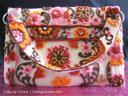 Vera Bradley Handbag Purse Cake by C-Star Cakes via LivingLocurto.com