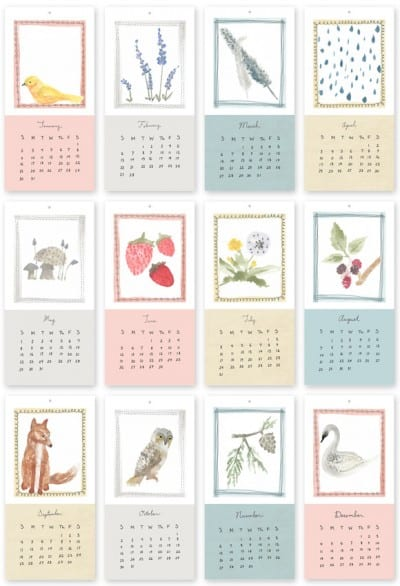 2011 Free Calendar by Creature Comforts
