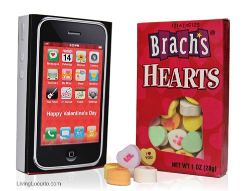 iPhone Candy Valentine - Free Printable - Living Locurto