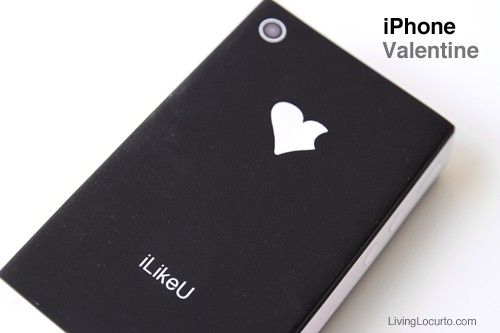 iPhone Valentine - Free Printable