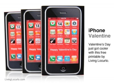 iPhone Valentine Free Printable by Amy Locurto