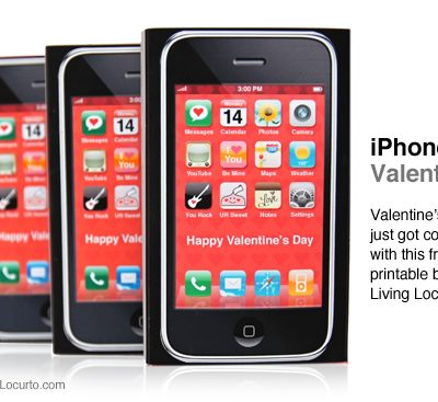 Free Printable iPhone Valentine