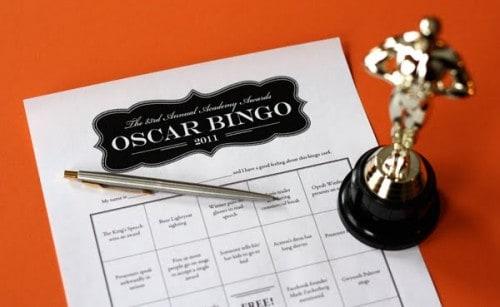 2011 oscar bingo