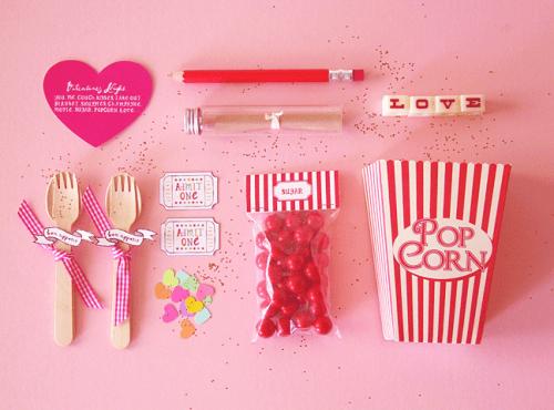Free Popcorn Date Valentine Printable