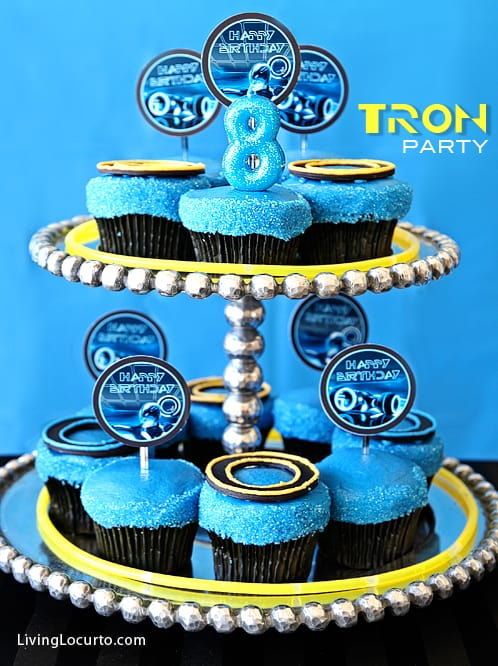 Tron Birthday Cupcakes by Living Locurto