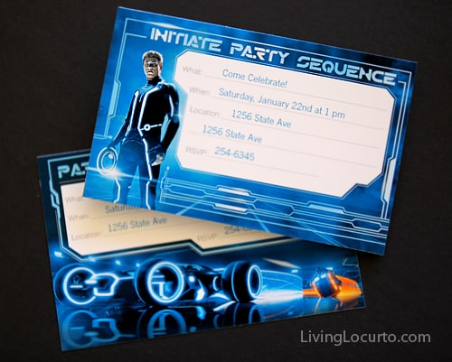 Tron birthday party with free printables these filmwisefo