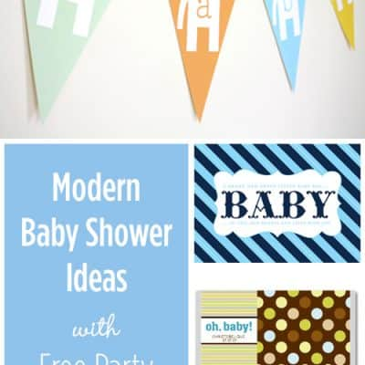 Modern Baby Shower Ideas {Free Party Printables}