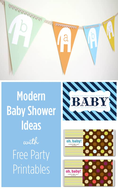 Modern Baby Shower Ideas with cute Free Party Printables!