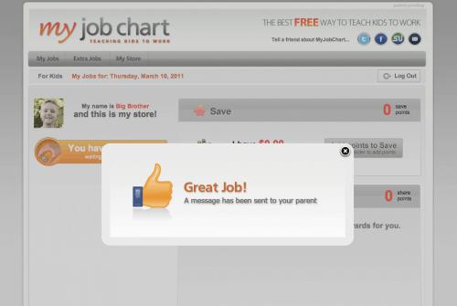 Great job! My Job Chart