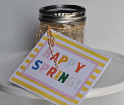 Homemade Lemon Curd with Free Printable Happy Spring Card