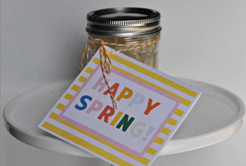 Homemade Lemon Curd Recipe   Free Printable Happy Spring Card LivingLocurto.com