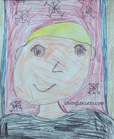 Kid Art Self Portrait Living Locurto