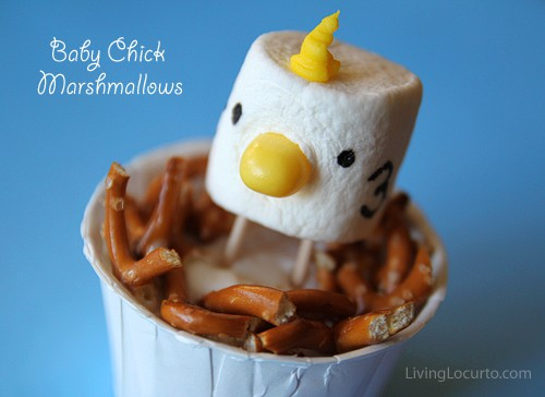 Marshmallow Easter Chick Treats and Free Printables Living Locurto