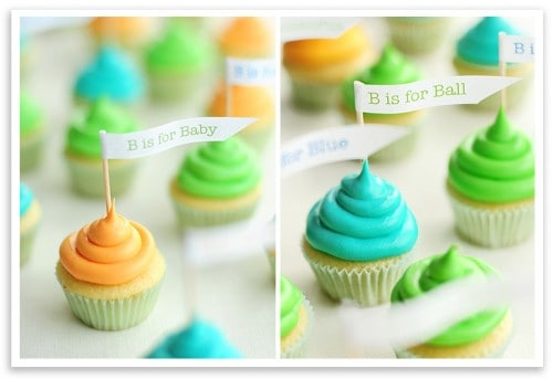 Baby Shower Cupcakes & More Baby Shower Party Recipe Ideas