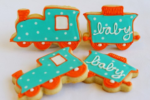 Baby Shower Train Cookies & More Baby Shower Party Recipe Ideas