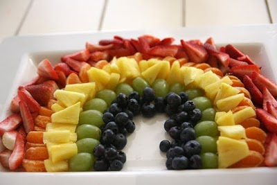 Healthy Snack Recipes for Kids - Rainbow Fruit Tray from Tangled and True