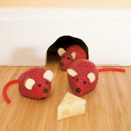 Strawberry Mice - Healthy Kid Snack