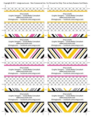 Free printable business cards accmission