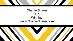 Charlie Sheen - Free Business Card Templates