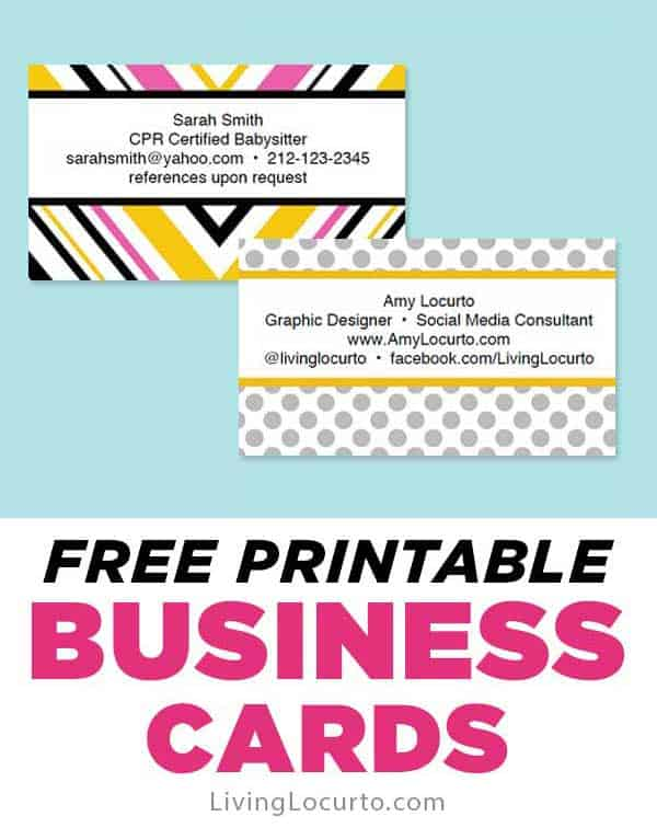 Free Business Cards Easy Printables
