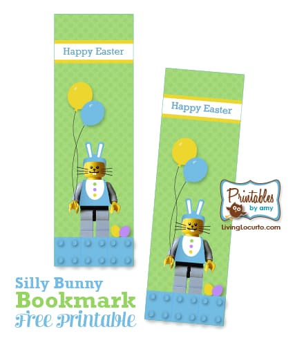 Free Printable Lego Easter Bookmark by LivingLocurto.com