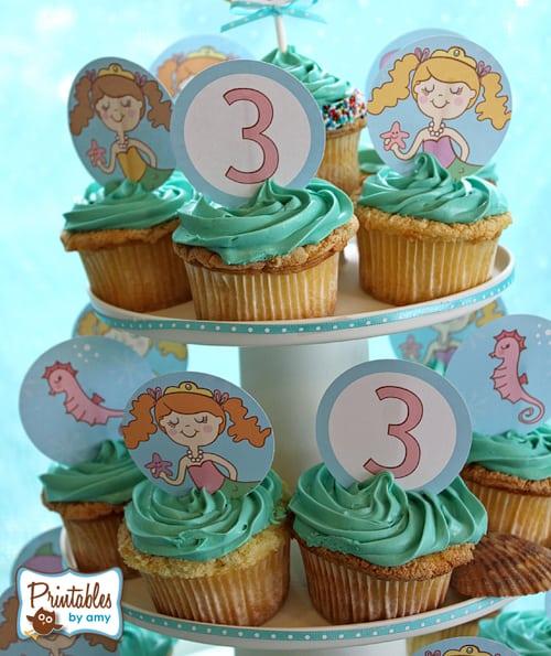 Mermaid Party Cupcakes