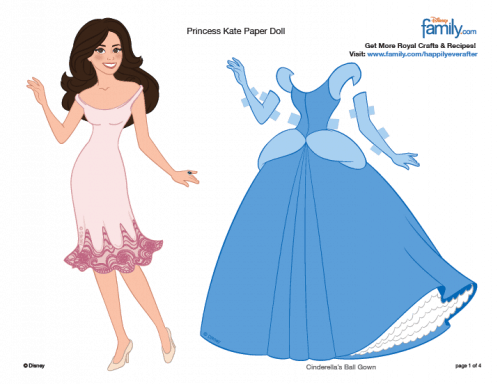Princess Kate Paper Dolls - Prince William and Kate Middleton