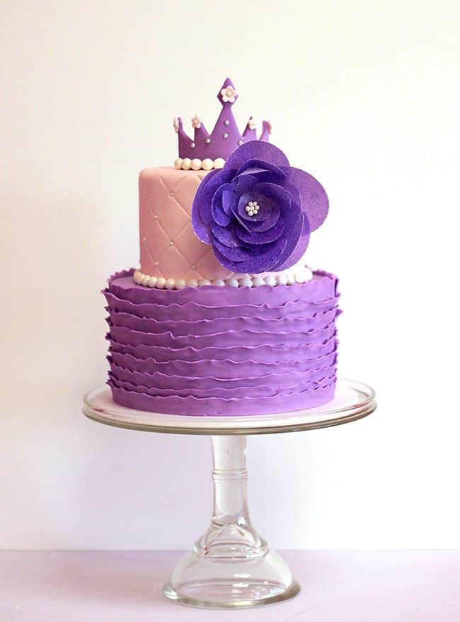 Purple Princess Cake Images