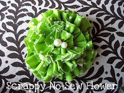 No Sew Fabric Flower Hair Clip Tutorial