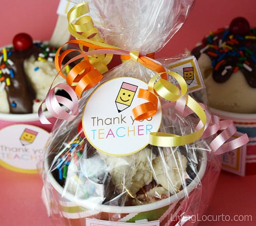 Teacher Appreciation Ice Cream Sundae Cupcake Recipe - Free Party Printabels