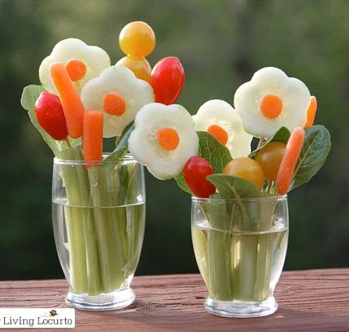 Veggie Flower Bouquet Treat by Living Locurto