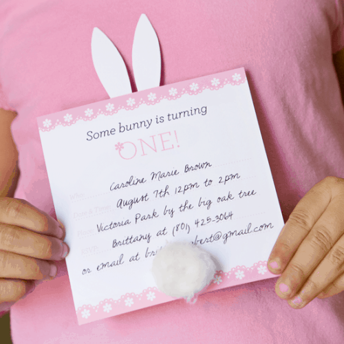 free printable bunny invite